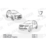 Штатная электрика к фаркопу 7-pin Chevrolet Captiva 2006-2013, 2013- || Opel Antara 2006-2013, 2013- для авто с подготовкой